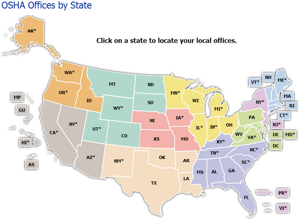 OSHA Offices by State