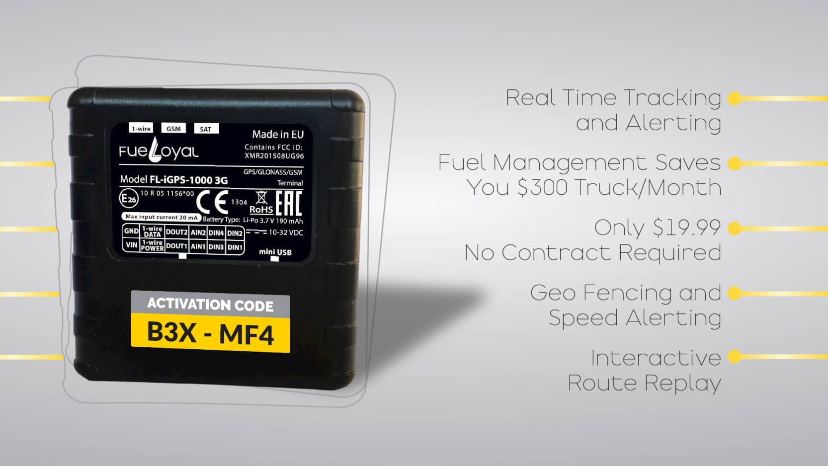 Fueloyal Smart GPS Tracking with fuel purchase optimization features!