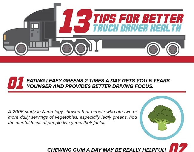 INFOGRAPHIC: 13 Tips For Better Truck Driver Health