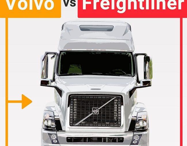 INFOGRAPHIC: Volvo vs Freightliner
