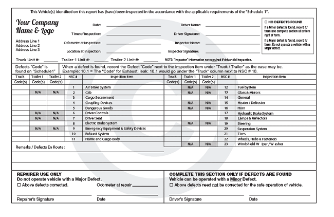 How To Fill Pre-trip inspection Form