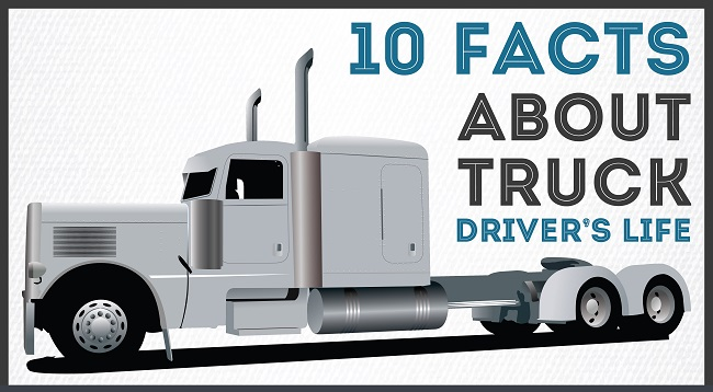 INFOGRAPHIC: 10 Facts About Truck Drivers's Life Cover Image