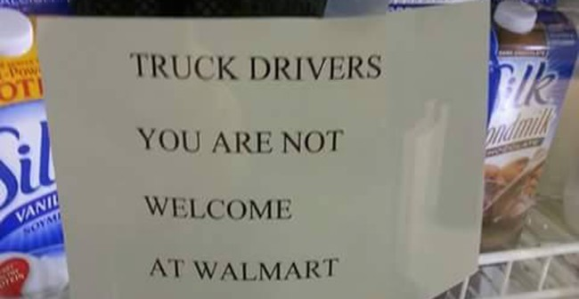 Truck Drivers Not Welcome at Walmart – 10 Terrible Reasons