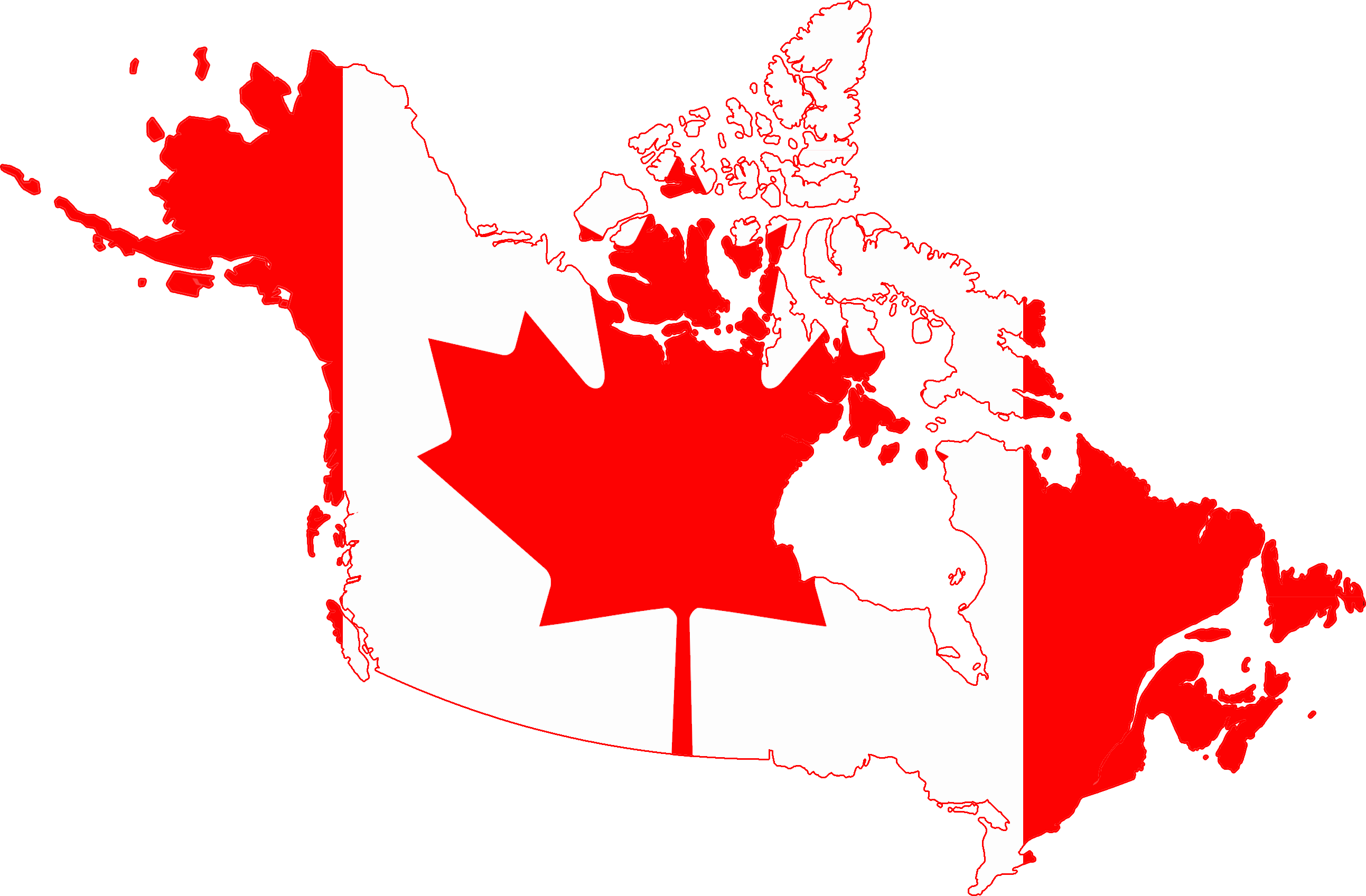 Flag Map Of Canada With Alaska Top 20 Canadian Trucking Companies