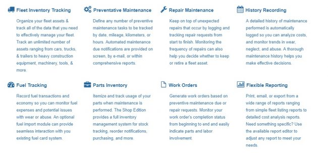fleet management software maintenance