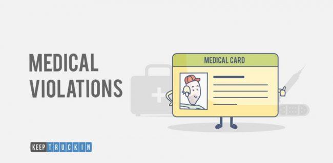 CSA Violations - medical violations