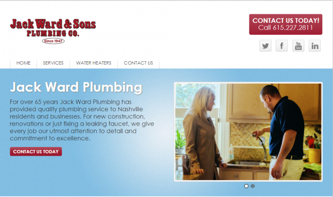 Jack Ward Plumbing companies as one of the best