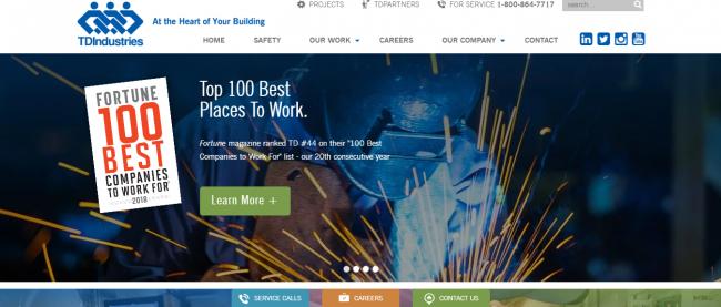 TDIndustries as one of the best plumbing companies