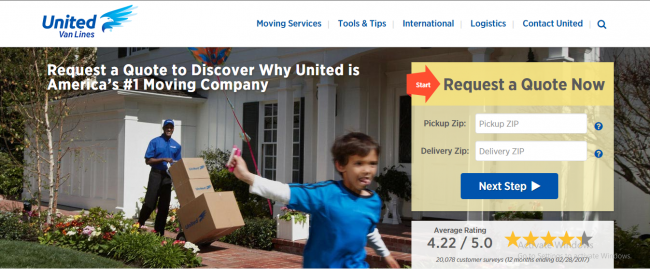 United Van Lines as one of the top residential moving companies