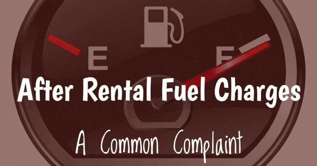 car rental NYC fuel charges