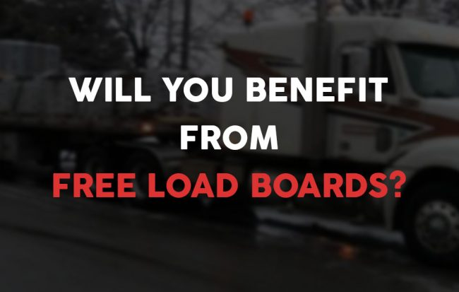 Benefits of using free load boards