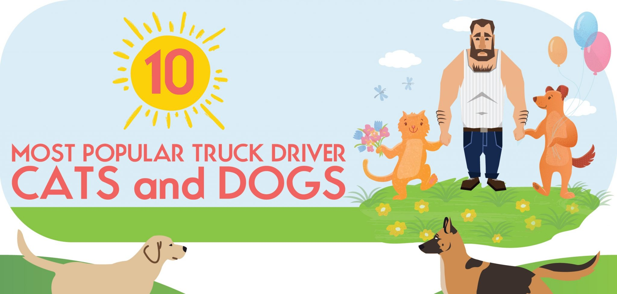 INFOGRAPHIC: 10 Most Popular Truck Driver Cats and Dogs