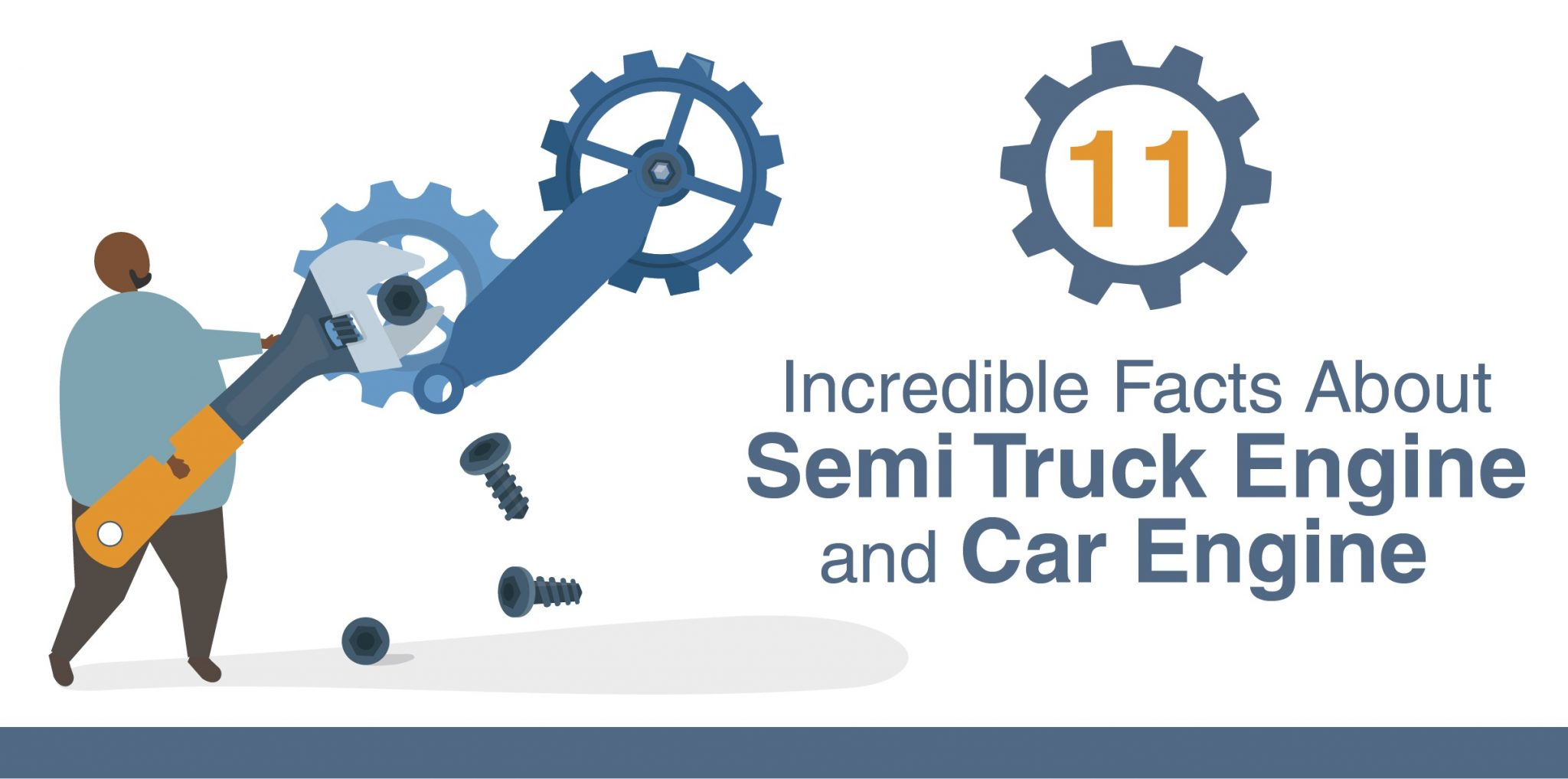 INFOGRAPHIC: 11 Incredible Facts About Semi Truck Engine and Car Engine