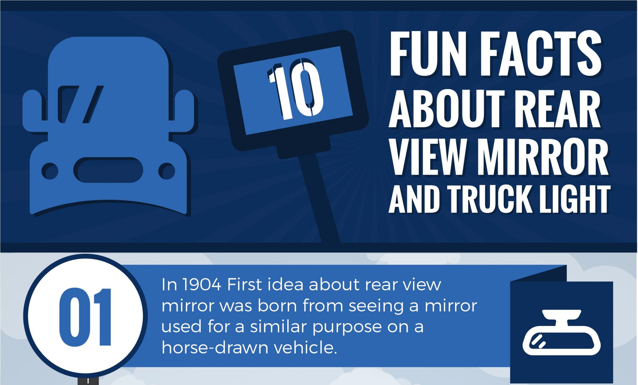 INFOGRAPHIC: 10 Fun Facts About Rear View Mirrors and Truck Lights