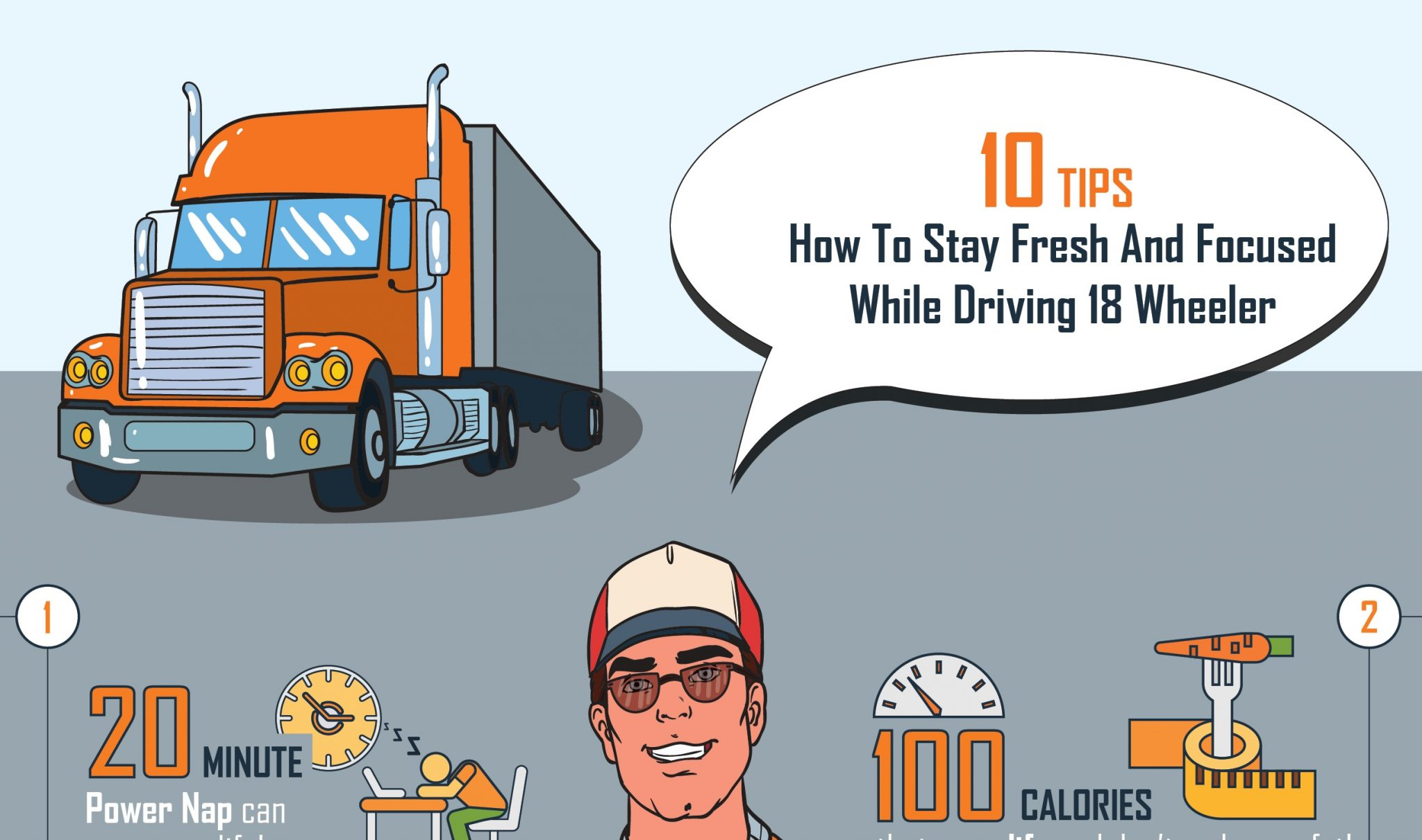 INFOGRAPHIC: 10 Tips How To Stay Focused While Driving 18 Wheeler