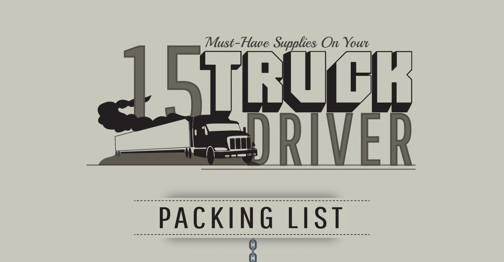 INFOGRAPHIC: 15 Must-Have Supplies On Your Truck Driver Packing List