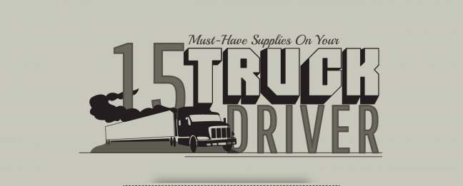 INFOGRAPHIC: 15 Must Have Truck Driver Supplies