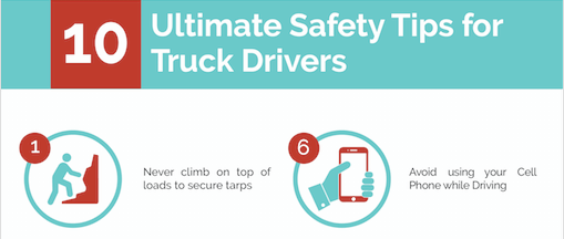 INFOGRAPHIC: 10 Ultimate Safety Tips for Truck Drivers